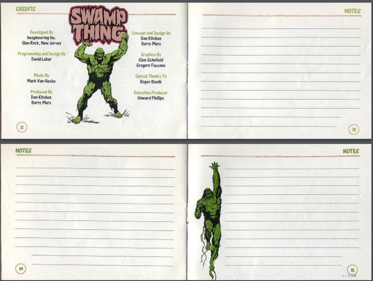 Swamp Thing Notes