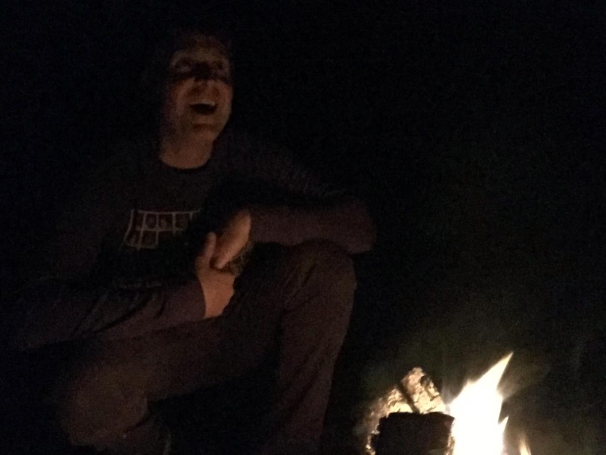 coast fire at midnight